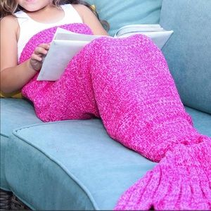 Other - Pink Mermaid Knit Throw Cover
